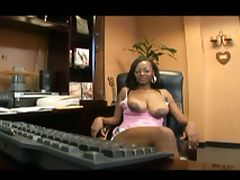 Big breasted secratary loves to fuck at the office tube porn video