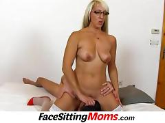Stockings high heels wife Marketa facesitting tube porn video