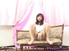 Teen Japanese Babe Masturbates And Burns tube porn video