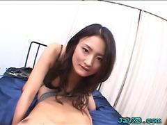 Two men fuck cute chick tube porn video