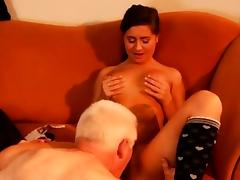 Old hairy anal first time Latoya makes clothes, but she like tube porn video