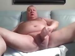 daddy stroke and cum on cam tube porn video