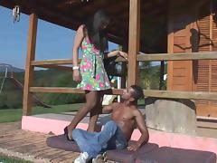 Latina TS and black guy outdoor madness tube porn video