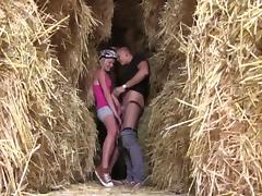 Cyclist college girl Bimbo Fucks by Haystacks tube porn video