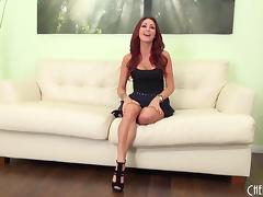 Milf Monique Alexander masturbates in sexy high heels tube porn video