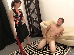 Ballbusting, Foot Domination, Humiliation, and Whipping tube porn video