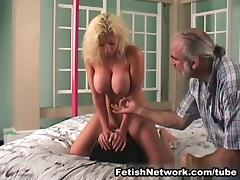 Big breasted blonde is in for some corporal punishments tube porn video
