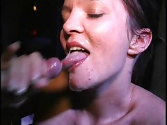 Austrian cumslut sucks a bunch of dicks tube porn video