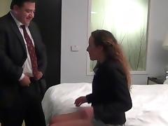 Fat boss fuck his young married secretary in hotel tube porn video