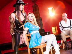 Franceska Jaimes, Mia Malkova & Christian Clay  in League of Frankenstein - Episode 2 - Van Helsing tube porn video