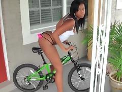 Biking booty tube porn video