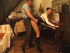 Young musician ass fucked during piano lesson tube porn video
