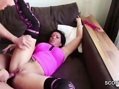 German Step-Son Caught Mom and Fuck her Anal and Cum tube porn video