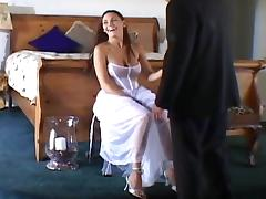 Cute bride getting fucked by two tube porn video