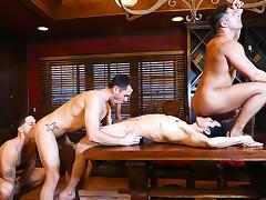 Brenner Bolton, Rafael Alencar, Roman Todd, Seth Santoro in Godfather Part 4 - JizzOrgy tube porn video