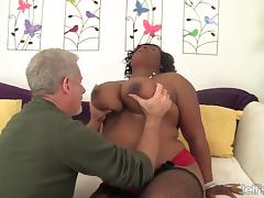 Sexy black plumper Marliese Morgan gets fucked hard tube porn video