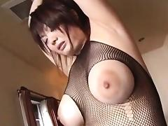 Arousing Asian babe Sakura sucks fat cock tube porn video