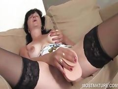 Dildo fucking with mature babe tube porn video