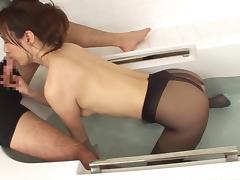 nasty japanese lady shows off her stunning legs in the tub tube porn video