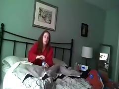 Wife caught masturbating - in color - hidden cam - 5-1-16 tube porn video