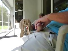 So hard on patio for MIL Pt 2 tube porn video