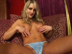 Tight body and fake tits on a blonde taking a pounding tube porn video