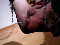 Crossdresser asshole pump tube porn video