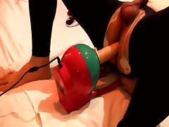 Prostate orgasm with electro Facking machine tube porn video