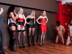 Five Mistress Ballbusting tube porn video