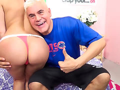 Aleksa Nicole,Porno Dan in Aleksa Nicole's Ass go Hula Hoop! Video tube porn video