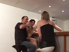 2 french cougars trio tube porn video