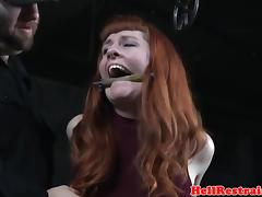 Analhook tiedup submissive caned in dungeon tube porn video
