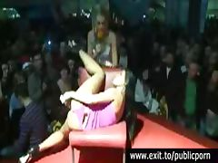 Public Masturbation and Orgasm Contest on stage tube porn video
