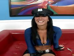 Jayden James is the police woman who really likes the shagging tube porn video