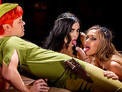 Aiden Ashley,Mia Malkova in Peter Pan XXX: An Axel Braun Parody, Scene 3 - Wicked tube porn video
