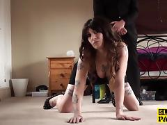British bigtitted sub squirts before facial tube porn video