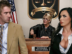 Nikki Benz & Danny D in ZZ Courthouse: Part Two - Brazzers tube porn video