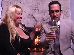 Business man seduces a sexy BBW and fucks her by the fire tube porn video