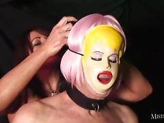 Mistress Carly fucks real sexdoll then makes him lick pussy tube porn video