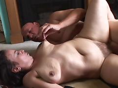 Saggy old slut with a big clit gets a good pounding tube porn video