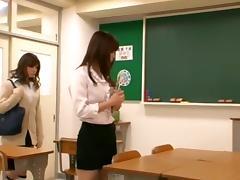 Horny Asian girl Seduces Teacher Lesbian tube porn video