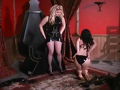 Hot Blond Mistress Toys With Chick tube porn video