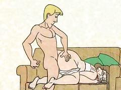 Boy fucked granny in the dog-style and cums! Animation! tube porn video