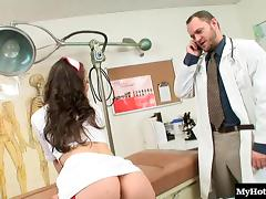Perfect nurse Kristina Rose really likes the long doggy sessions tube porn video