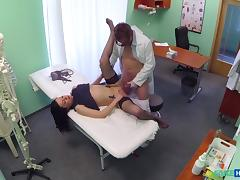 Inga in Sexy sales lady makes doctor cum twice as they strike a deal - FakeHospital tube porn video