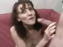 Fat Nerd Spunks In Sexy Amateur's Mouth tube porn video