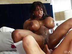 Black MILF called Yvette and the white dick inside her hole tube porn video