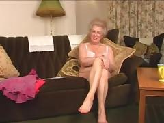 Scottish gran Busty talks and strips tube porn video