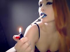 Lipstick Smoking Fetish tube porn video