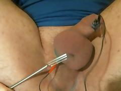 Estim poppers and ball torture tube porn video